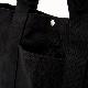 「布もの職人手作り」侍魂 江戸桜の大きめトートエコバック 侍魂×日本伝統布物工房 (黒無地)