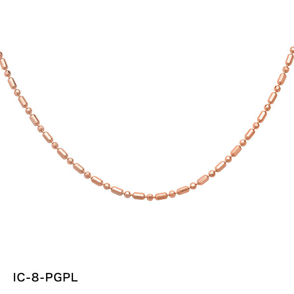 ティアドロップ ピンクゴールドプレートネックレス Silver925 10K(10金) PSA-21-PGPL-T-CZ