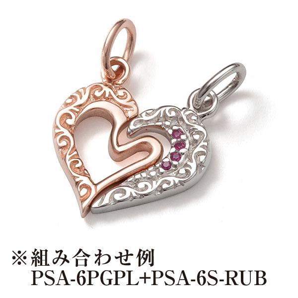 Sana ハートモチーフ ピンクゴールドプレーティングペンダント レディースアクセサリー  シルバー925 K10(10金)