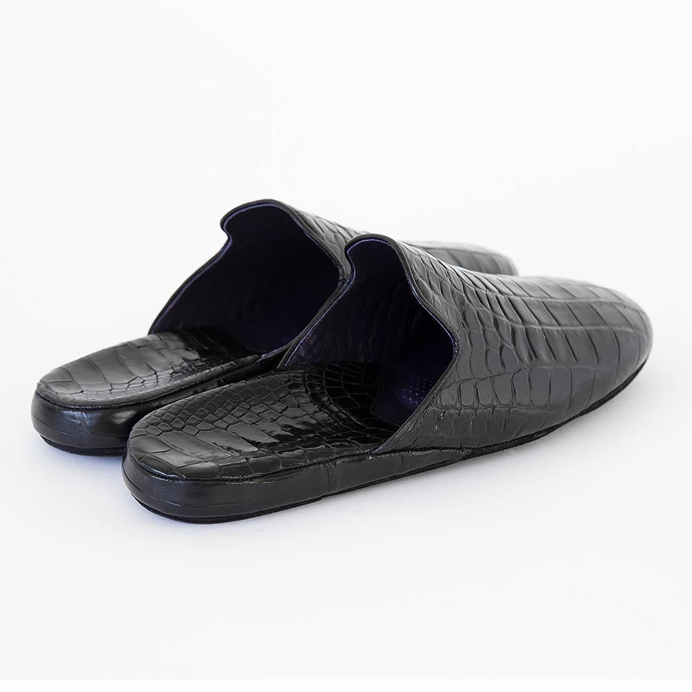 スリッパ president's footgear® NO.9651【クロコダイル】(除電)