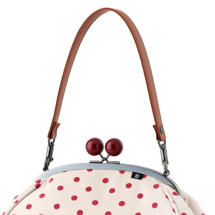 【ハンドバッグ用 ナスカン付き】 ワンタッチ付け替えハンドル 《 茶 》/ 2cm幅 合皮 持ち手ベルト 手提げ鞄やがま口バッグに【メール便対応商品】