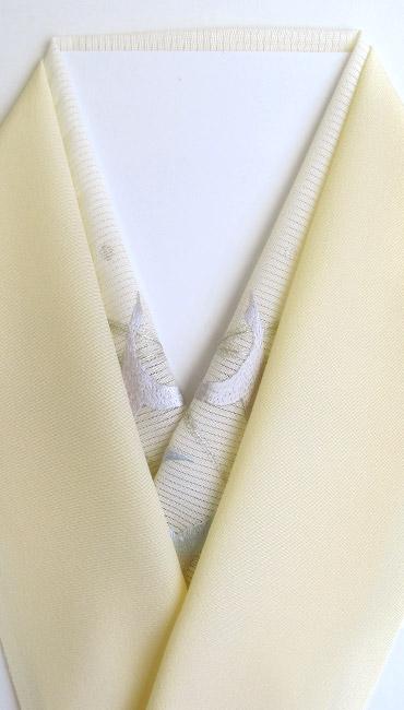 鶴花 手刺繍半衿 / 絽・正絹 / 盛夏用 鶴花 手刺繍半衿 / 絽・正絹 / 盛夏用 / 半襟