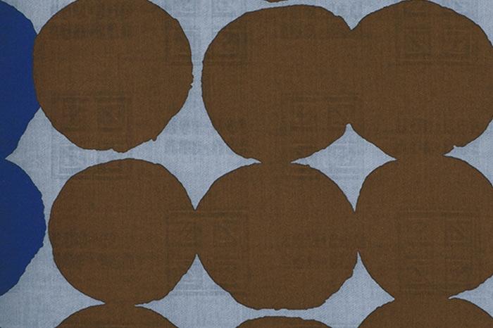 54cm幅 SOU・SOU×荒川 綿ジャガード風呂敷/おはじき(鉛色×憲法色)鉛色×憲法色 おはじき