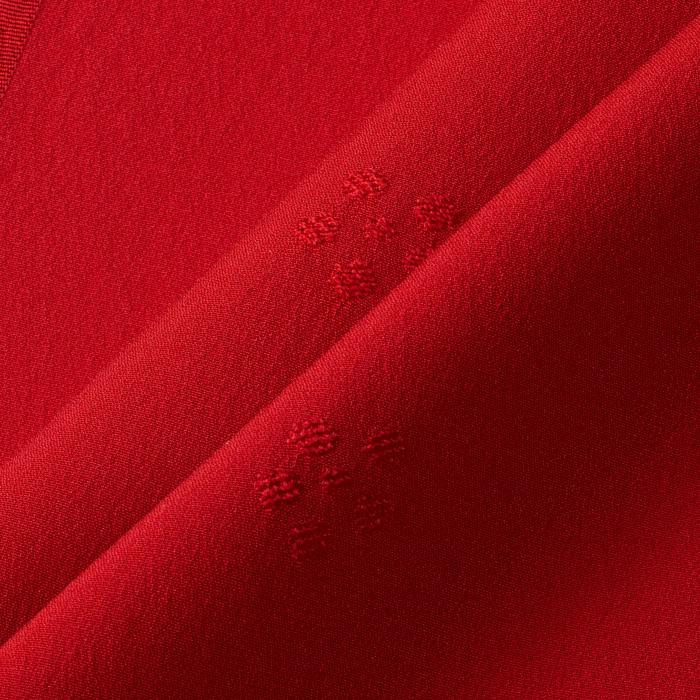 帯揚 国産繭梅鉢 赤 帯揚 国産繭梅鉢 赤(帯揚、国産繭、梅鉢)