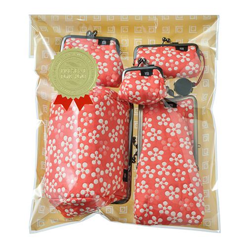 ふくれ織り 利休梅 宝石入れがま口 ギフト プレゼント 日本製 mede in japan小銭入れ 母の日ギフト