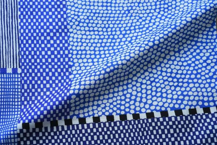54cm幅 SOU・SOU×荒川 綿ジャガード風呂敷/間がさね・ブルー 54cm幅 SOU・SOU×荒川 綿ジャガード風呂敷/間がさね・ブルー 和柄 和文様