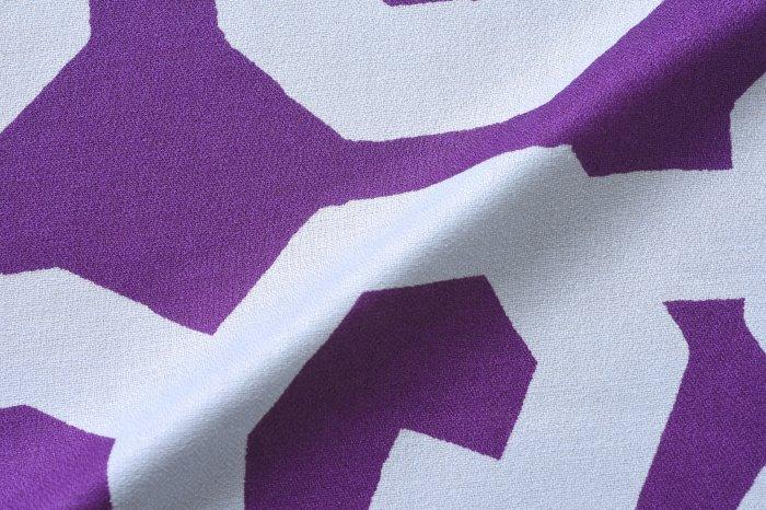 50cm幅 SOU・SOU×荒川 綿ガーゼ両面風呂敷/五右衛門・紫×黄色 50cm幅 SOU・SOU×荒川 綿ガーゼ両面風呂敷/五右衛門・紫×黄色 和柄 和文様