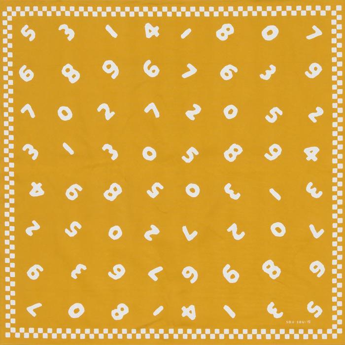 90cm幅 SOU・SOU×荒川 綿オックス風呂敷/so-su-u・金茶 90cm幅 SOU・SOU×荒川 綿オックス風呂敷/so-su-u・金茶 和柄 和文様