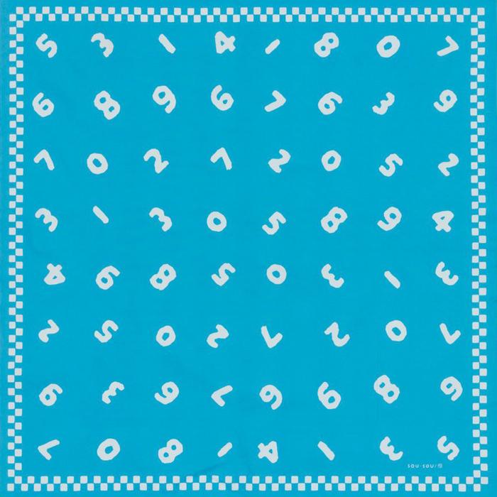 90cm幅 SOU・SOU×荒川 綿オックス風呂敷/so-su-u・水色 90cm幅 SOU・SOU×荒川 綿オックス風呂敷/so-su-u・水色 和柄 和文様
