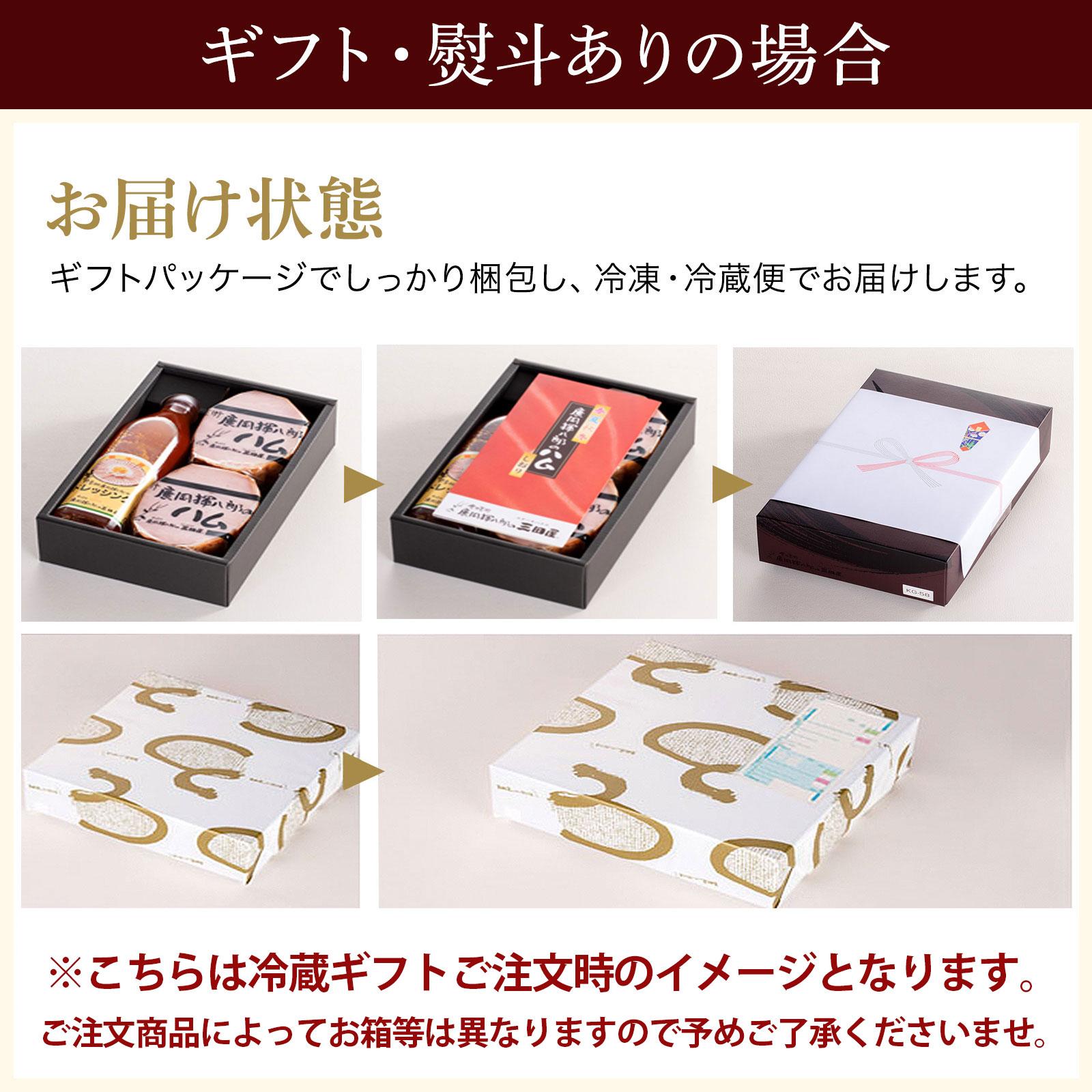 【冷蔵】手燻揮八郎 ハム 635g の ギフト セット(KG-68N)