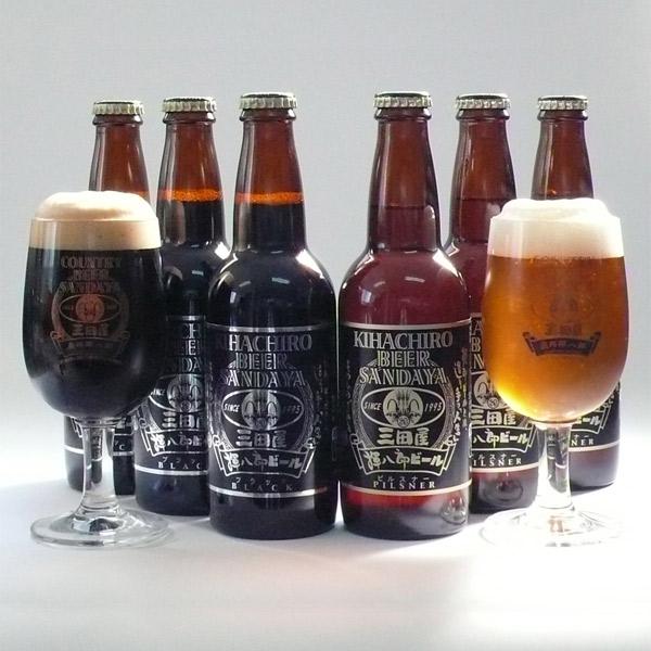 【冷蔵】揮八郎 ビール 6本 セット(ブラック & ピルスナー 各330ml×3本入り)(KB-6)