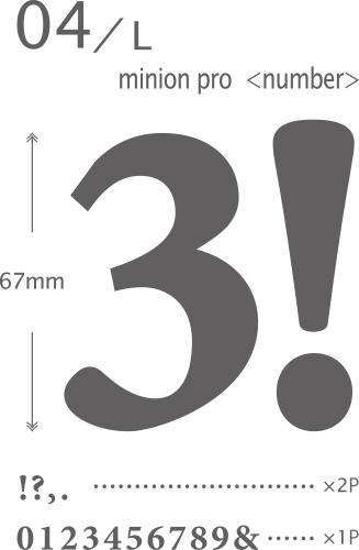 【期間限定!特別価格】ウォールステッカー「04-L ミニオンプロ<ナンバー>」【小物商品3点以上で送料無料】
