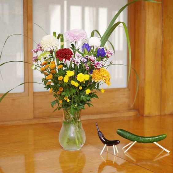 産地直送、そのまま飾れるお供え花セットー自宅用(大)ー