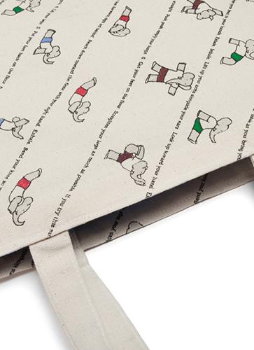 "Babar's Yoga for Elephants - Tote Bag ""ババールのヨガ""トートバッグ"