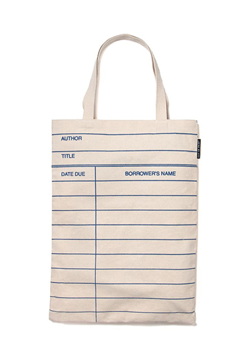 "Library Card - Tote Bag ""図書館貸し出しカード""トートバッグ"