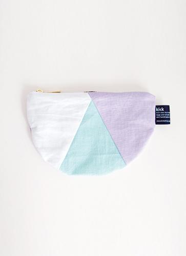 3c flag pouch [ホワイト×ミント×ライトパープル]