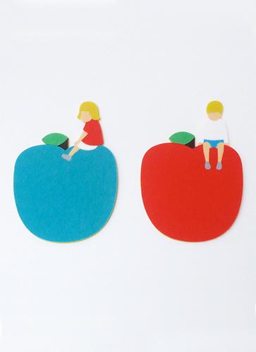 フェルトコースター(赤りんご)