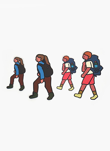STICKER PACK-WALK WALK