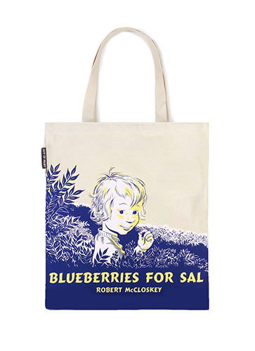 "Blueberries for Sal - Tote Bag  ""サリーのこけももつみ "" トートバッグ"