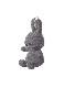 Miffy Corduroy Keychain 10cm DARK GREY