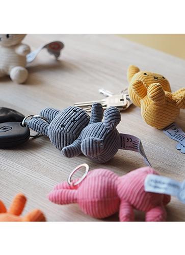 Miffy Corduroy Keychain 10cm YELLOW