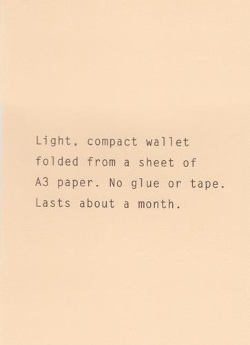 5182 Paper Wallet 肌色