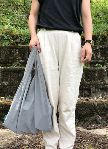REFLECTOR ECO BAG (L) GREY