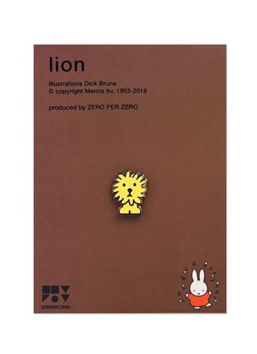 ZPZ miffy ピンバッジ LION