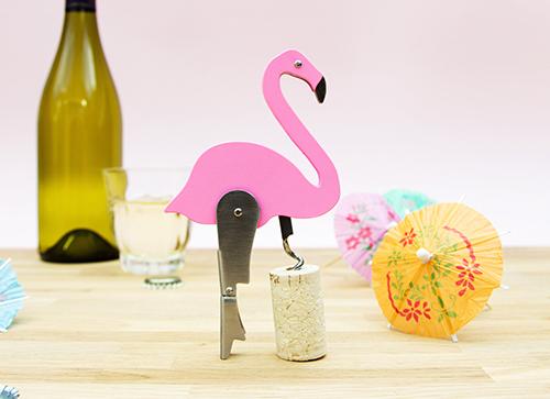 Flamingo Corkscrew Bottle Opener