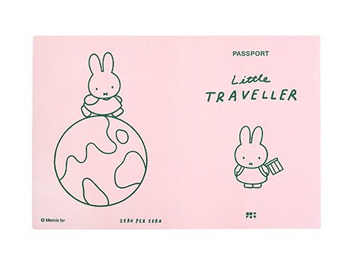 ZPZ miffy パスポートカバー MIFFY (ピンク)