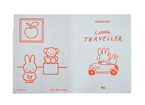 ZPZ miffy パスポートカバー MIFFY (グレー)