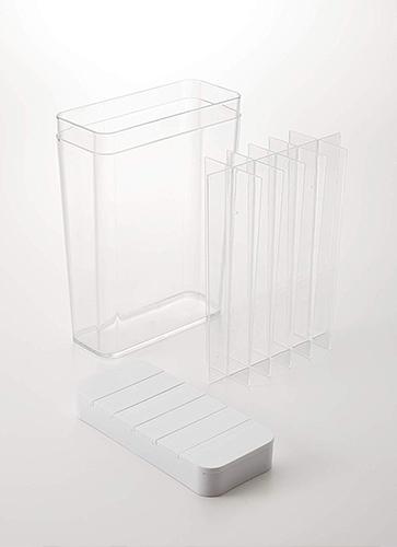 スライド式 1合分別 冷蔵庫用米びつ ホワイト タワー