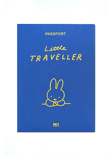 ZPZ miffy パスポートカバー MIFFY (ブルー)
