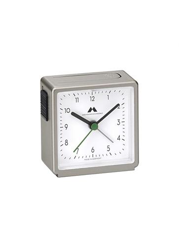 "Uhren Manufaktur Schwarzwald Alarm Clock ""Titanium / White"""