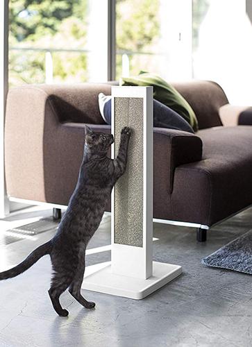 猫の爪とぎスタンド タワー ホワイト ペット用品 爪とぎ 爪とぎケース