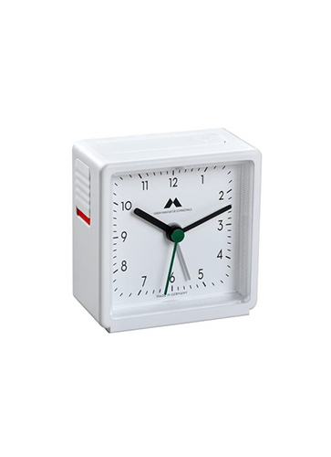 "Uhren Manufaktur Schwarzwald Alarm Clock  ""White / White"""