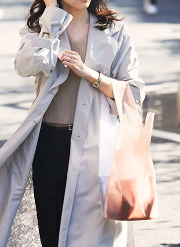 DAILY SHOPPER / Clear × Pale Orange