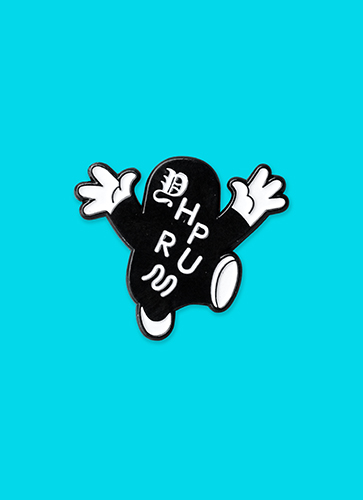 YHPRUM EIDDE ENAMEL PIN / ヤプルムイデ・ピンバッチ