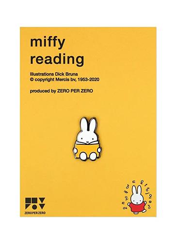 MIFFY READING ピンバッジ