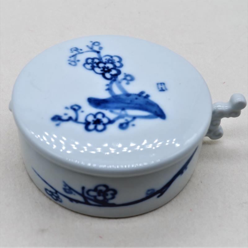 墨池) 景徳鎮陶器 (小) 梅・家屋