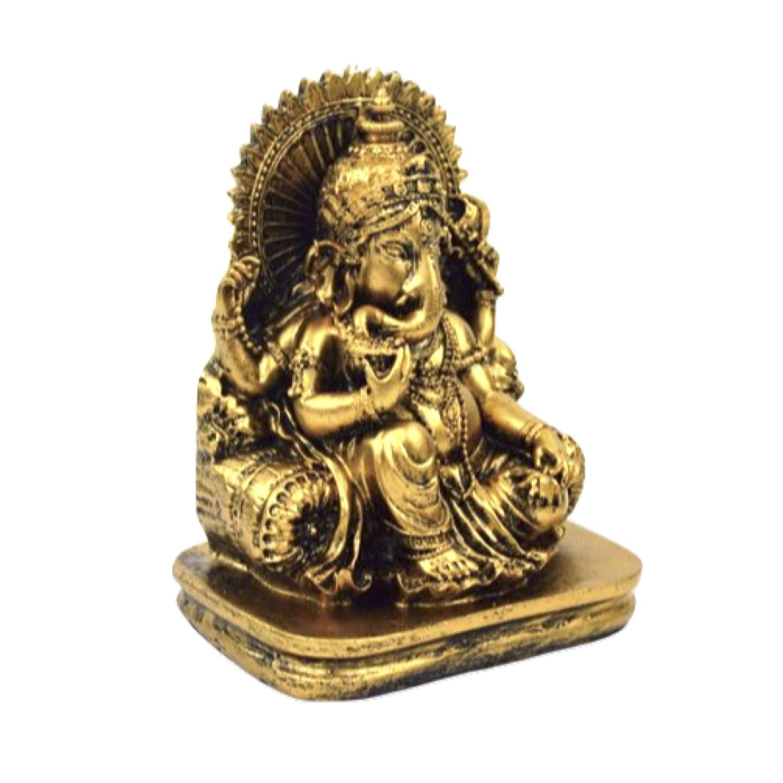 インドの神様 縁起物 ガネーシャの置物 ガネーシャ 置物 ガネーシャ像 夢を叶える象 金運アップ 開運 瞑想 商売繁盛 現世利益 ヒンドゥー教の神様 象の神様 ガナパティ 歓喜天 聖天 J18078 ゴールド 金
