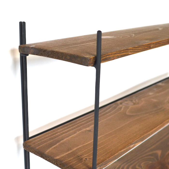 ノックダウン4ステップラック L az-1093 棚 ラック キッチンラック 飾り棚 おしゃれ インテリア スパイスラック 収納 ディスプレイ
