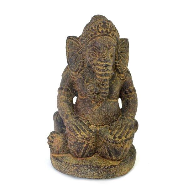 ガネーシャ インドの神様 ガネーシャの置物 置物 ガネーシャ像 石像 夢を叶える象 金運 縁起物 開運 商売繁盛 現世利益 083-107 高さ17cm 太鼓