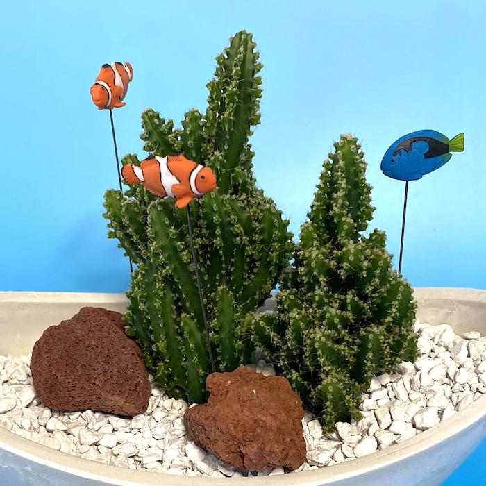 【受注生産品】魚 アクアリウム su-03jw1 ニモ ドリー 夏 さぼてん カクタス インテリア グリーン ミニチュア  かわいい 動物 フィギュア