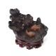 倒流香 とうりゅうこう 倒流香炉 流川香 りゅうせんこう 流川香炉 香炉 お香 香立て 逆流香 煙が下に流れる 陶器 線香立て付き 蓮と2匹の鯉 お香サンプル付き