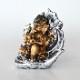 ガネーシャ 縁起物 蓮葉 座像 インド ヒンドゥー教 神 置き物 オブジェ ガネーシャ像 インテリア おしゃれ