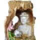 流水のオブジェ 縁起物  aq21053 木 自然 仏 仏様 置物 神仏  金運アップ 開運 商売繁盛  噴水 インテリア噴水 卓上噴水 ライト付き
