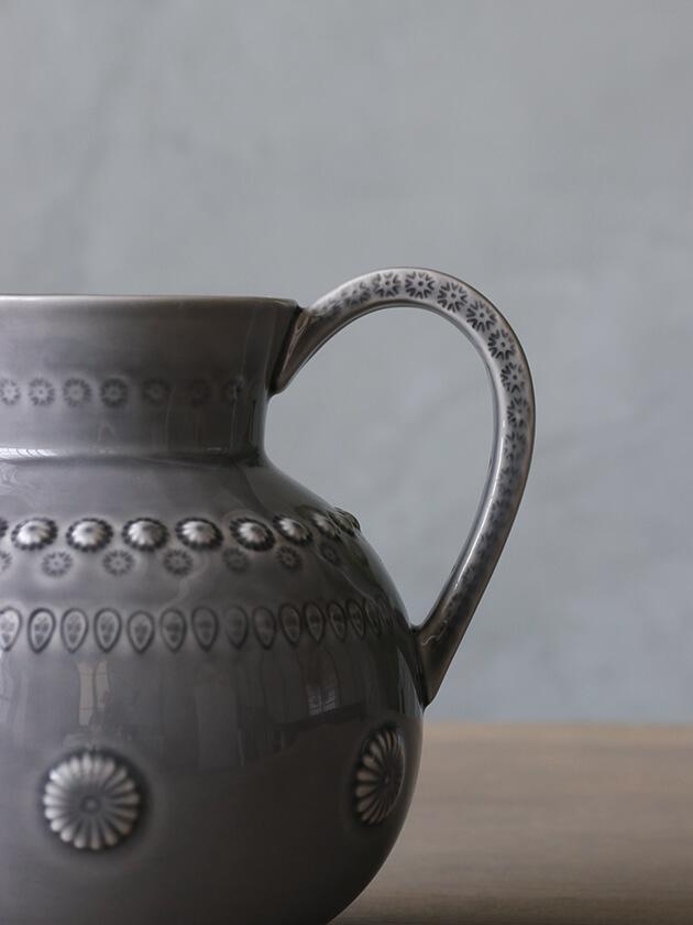 PotteryJoラージピッチャーDAISYグレー