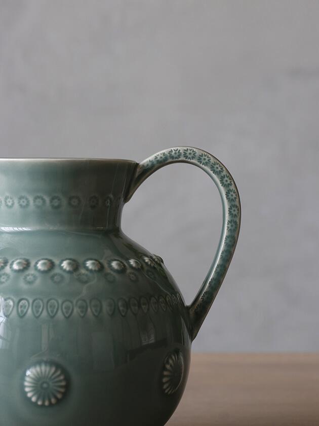PotteryJoラージピッチャーDAISYダスティグリーン