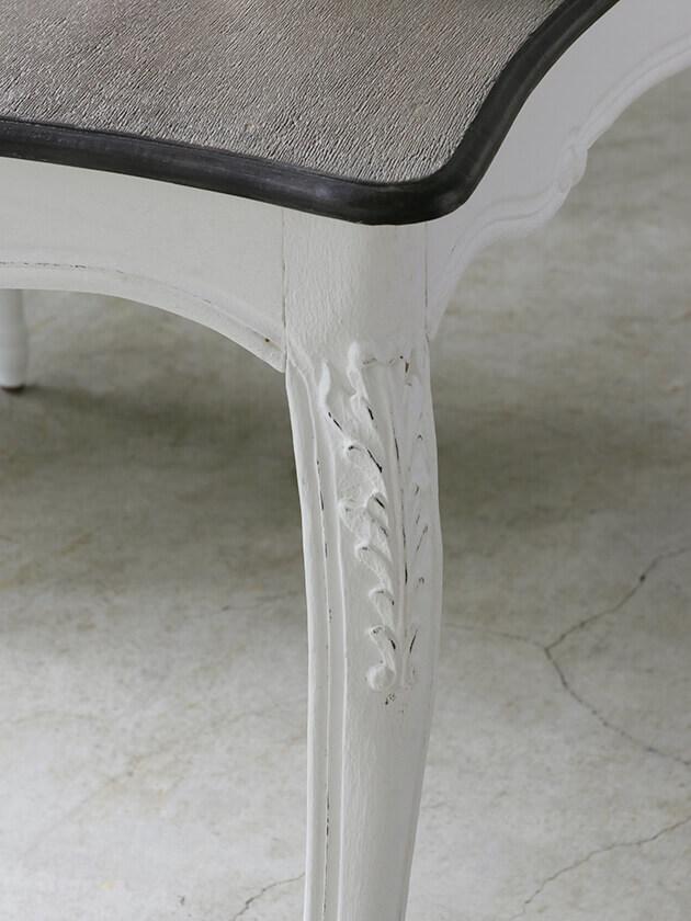 《10%OFF》BLANC D'IVOIREダイニングテーブルJOANNA180cmアンティークホワイトTOPブラウングレーfacon chene